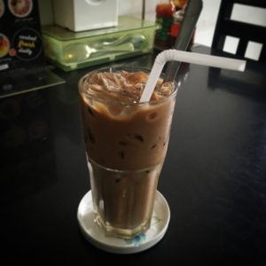 Iced Vietnamese coffee (via @emmandamian)